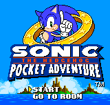 Sonic the Hedgehog - Pocket Adventure (demo) - Title Screen - User Screenshot